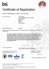 Crane Certificate of Registration